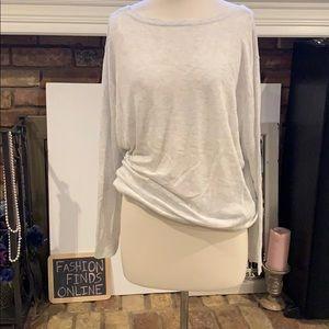 ZARA knit light oversized boat neck top